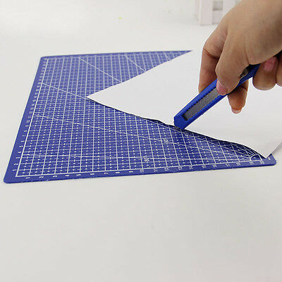 Craft Card Fabric Leather Grid Lines Cutting Mat Scale Plate A4