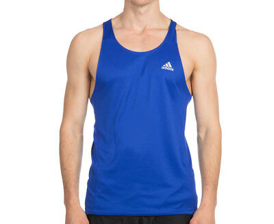 Adidas Men's Oz Singlet - Bold Blue