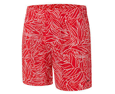 Speedo Men's Paradise Slim Fit Watershort - Red/White