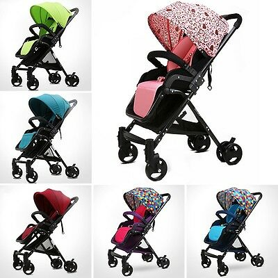 New Baby Stroller Infant Pushchair Trendy Practical Pram High-View Sit/Sleeep