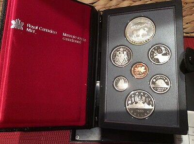 1985 CANADA > Proof Set, Includes SILVER DOLLAR , NICE TONING  > Canada Coinage