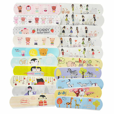 10PCS Variety Pattern Bandages Lovely Cartoon Band Aid For Kid Children Randomly