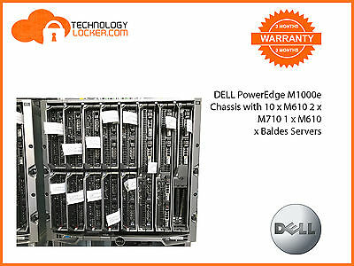 DELL PowerEdge M1000e Chassis with 10 x M610 2 x M710 1 x M610x  Baldes Servers