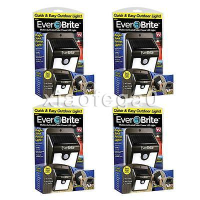 4PCS X Ever Brite Outdoor Motion Activated Outdoor Solar Power LED Light In US!