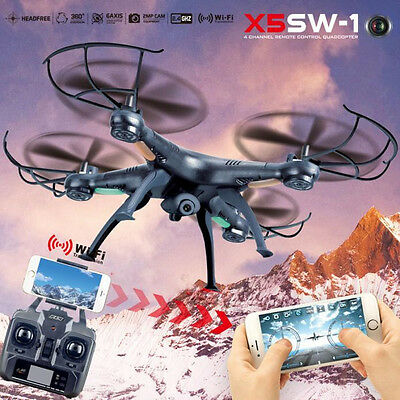 X5SW-1 2.4G 4CH RC Quadcopter Remote Real-time HD Wifi FPV Camera Drone RTF UK