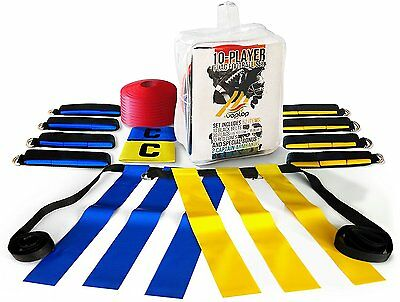 10 Player Flag Football Set by Voplop - 52 Piece Heavy Duty Kit - 10 Belts with