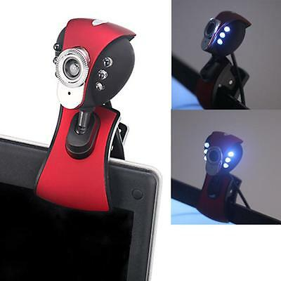 6 LED USB Digital HD Webcam with Microphone for PC Laptop For Skype  Brand New
