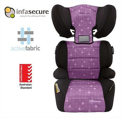 New Infa Secure Vario Treo Booster Car Seat 4-8 years Kid Child Toddler Purple