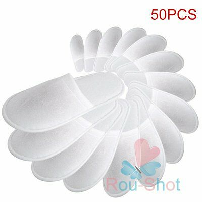 10/50/100Pcs Lot Wholesale New Disposable Hotel Home Antiskid SPA Slippers【US】