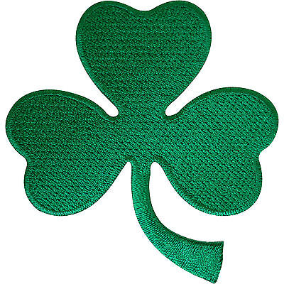 Irish 3 Leaf Shamrock Clover Patch Badge Iron Sew On Ireland St. Patrick's Day