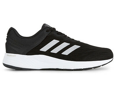Adidas Men's Fluid Cloud Running Shoe - Black/Metallic Silver/White