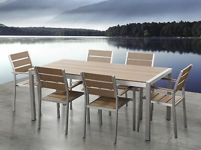 Garden dining set Table and chairs set 6 chairs Aluminum