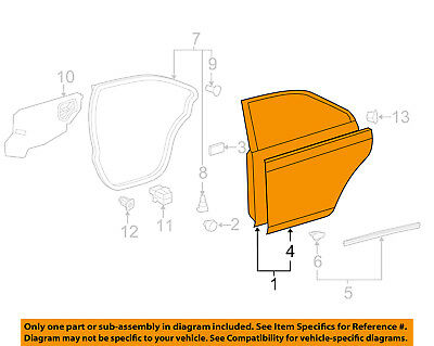 toyota oem 15 16 camry front door shell frame panel right 6700106221 rh picclick com Toyota Camry Suspension Diagram 1999 Toyota Camry Engine Diagram