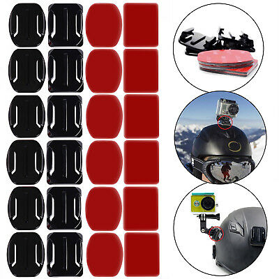 12 pcs Helmet Accessories Flat Curved Adhesive Mount for Gopro Hero 3 3+ 4 5