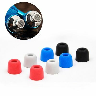 4 Pairs 5mm Tips 4 Colors Noise Isolating Earbuds Memory Foam Earplugs C Sets