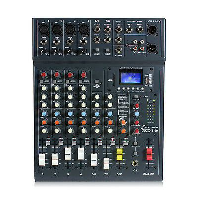 Studiomaster CLUBXS8 8 Channel PA Mixer with Bluetooth & USB