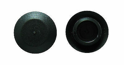 "1"" Flush Mount Black Plastic Body and Sheet Metal Hole Plug      Qty 1 1.0 Inch"