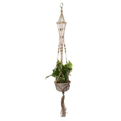 110cm Plant Hanger Macrame Rope Hanging Flower Pots Basket Planter Holder