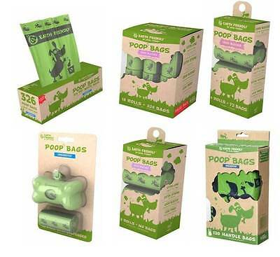 Dog Poo Poop Bags Earth Friendly Scented Unscented Lavender Degradable