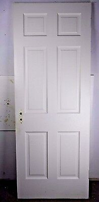 "Antique Vintage 6 Panel Interior Door 77-3/8"" X 29-1/2"" (E6) 1940's"