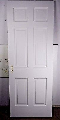 "Antique Vintage 6 Panel Interior Door 77-1/2"" X 29-7/8"" (F6) 1940's"
