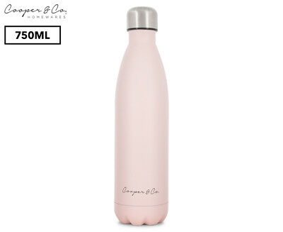 Cooper & Co. Insulated Water Bottle 750mL - Pink/Matte Finish