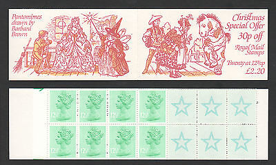 1983 £2.40 FX6 sg X898Ev Christmas Pantomime (offer) Folded Booklet