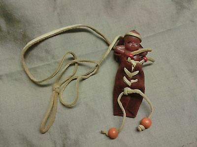 Vintage Native American Baby In Pouch Doll Necklace
