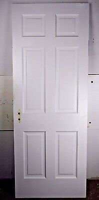 "Antique Vintage 6 Panel Interior Door 77-1/2"" X 29-1/2"" (I6) 1940's"