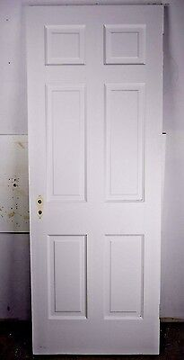 "Antique Vintage 6 Panel Interior Door 77-1/2"" X 29-1/2"" (J6) 1940's"