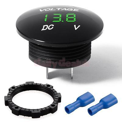 12-24V Car Marine Boat Refit Green LED Digital Voltmeter Voltage Meter Gauge