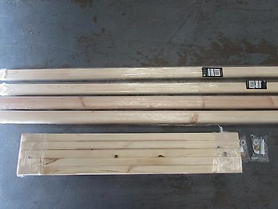 Pine 32mm Stop Chamfer Stair refurbishment Set - Spindles Rails and fixings