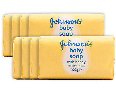 2 x Johnson's Baby Soap with Honey 4-Pack