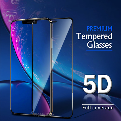 iPhone X XS Max XR 7 8 6 6S Plus SE 5 Full Cover Tempered Glass Screen Protector