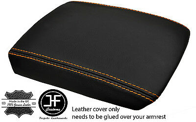 WHITE STITCHING LEATHER ARMREST SKIN COVER FITS CITROEN C4 2004-2010