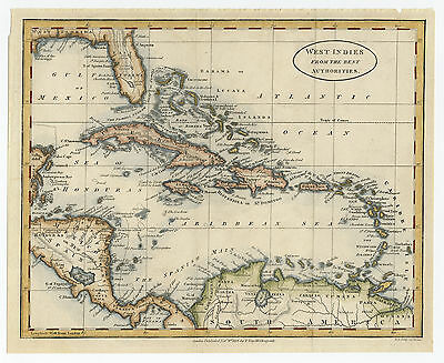 Antique Print-SOUTH AMERICA-WEST INDIES-CARIBBEAN-Anonymous-1814