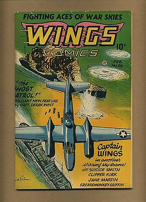 Wings Comics 66 (VG-) Fiction House 1946 Golden Age (id# 11844)