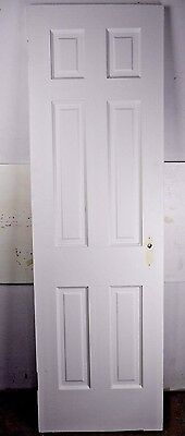 "Antique Vintage 6 Panel Interior Door 77-3/8"" X 23-3/4"" (O6) 1940's"