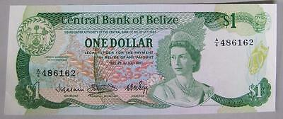 1983 Belize $1 One Dollar Currency Note, Choice CU.