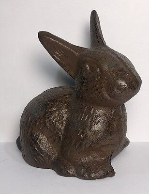 Bunny Rabbit Figurine Cast Iron Paperweight Doorstop Easter Home Decor #431