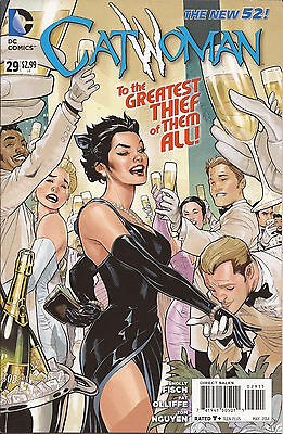 Catwoman #29 DC New 52 Batman Gotham City Solly Fisch Pat Oliffe Tom Nguyen VF