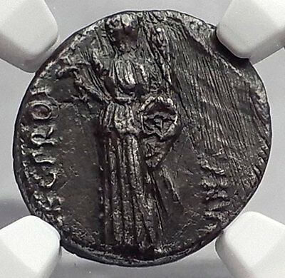 Metellus Scipio Enemy of Julius Caesar 47BC Ancient Silver Roman Coin NGC i59973