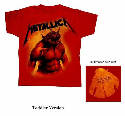 Official Metallica - Jump In The Fire - Red Toddler T-Shirt