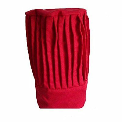 "Tall Chef Hat in Red - 15"" Tall"