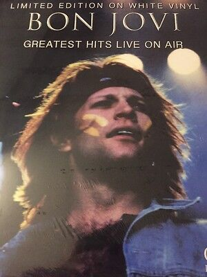 BON JOVI  'Greatest Hits: Live On Air' LP On White Vinyl -  New & Sealed