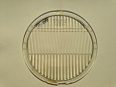 "LQQK Antique Vintage 1920's 1930's  PARABEAM HEADLIGHT LENS 8-15/16"" X 7-15/16"""