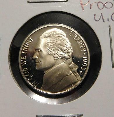 1993S Proof Jefferson Nickel / 5 Cents  Awesome Ultra Cameo             #MF-M