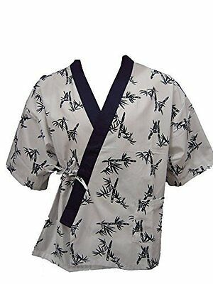 Sushi Chef Uniform- White Bamboo Print (Large Size)