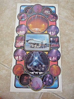 """The Doobie Brothers Vintage 1974 Fold Out Promo Poster 11.5"""" x 23"""""""