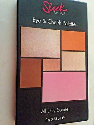 Sleek MakeUp - Eye & Cheek Shadow Powder Palette Brush Set - All Day Soiree new